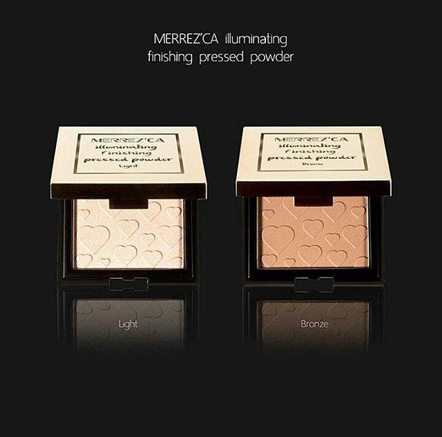Merrez'ca Illuminating Finishing Pressed Powder ไฮไลท์ บรอนเซอร์ เพิ่มมิติให้กับผิวหน้า