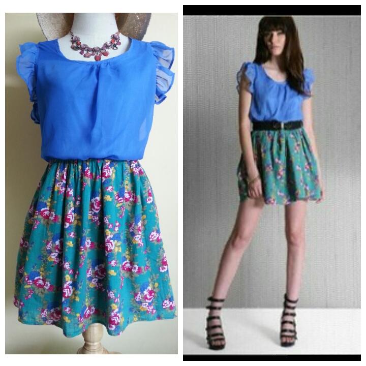 Yumi Frill Sleeve Dress Size S/M