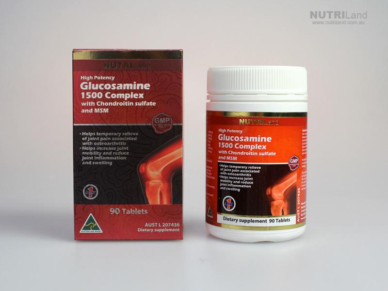 Nutriland Glucosamines Glucosamine Sulfate 1500mg นูทริแลนด์ กลูโคซามีน 1500 มิลลิกรัม ผลิตภัณฑ์เสริมอาหารสำหรับผู้มีปัญหาข้อต่อและไขข้อ
