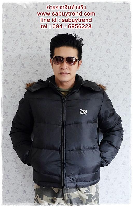 ((ขายแล้วครับ))((คุณแอนจองครับ))cm-93 เสื้อแจ๊คเก็ตกันหนาวผ้าร่มสีดำ รอบอก48
