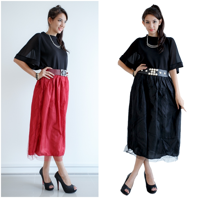 Mirror Dress's Maxi Skirt with Belt