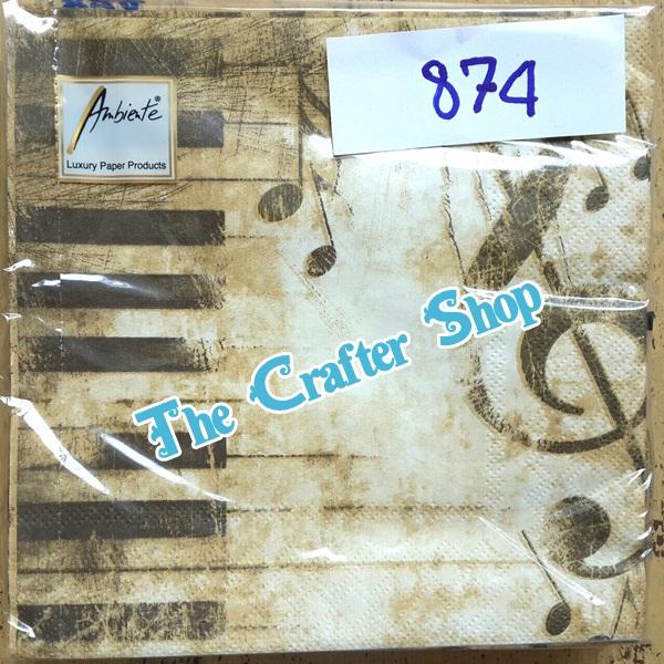 napkin ลายโน้ตดนตรี (รหัสสินค้า NA-874)