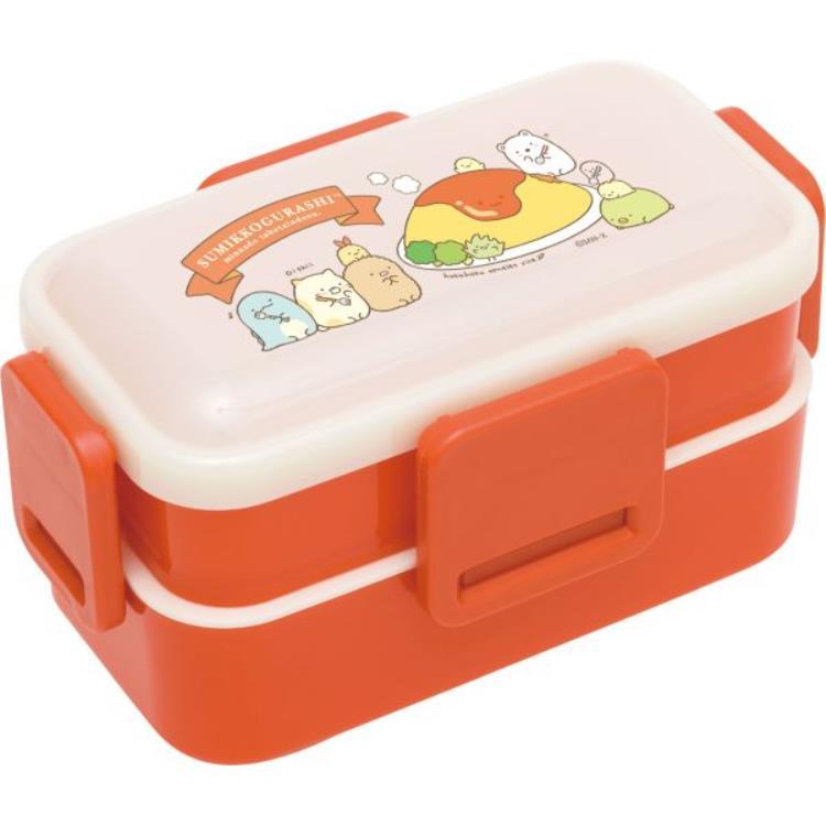 กล่องข้าว 2 ชั้น Sumikko Gurashi สีแดง