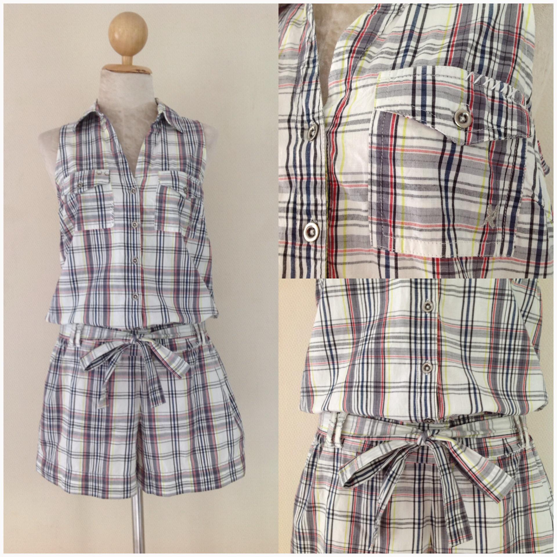 River island Playsuit Shirt Shorts Size Uk 10