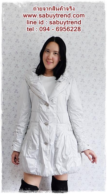 ((ขายแล้วครับ))((จองแล้วครับ))ca-2597 เสื้อโค้ทกันหนาวผ้าร่มสีบอร์น รอบอก40