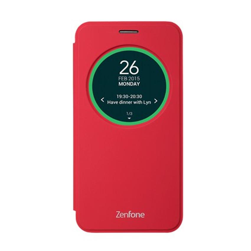 "Asus View Flip Cover Case สำหรับ Zenfone2Laser 5"" ZE500KL (RED)"