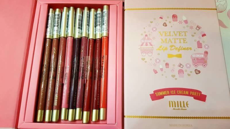 Mille Velvet Matte Lip Definer Box Set มิลเล่ ลิปดินสอ