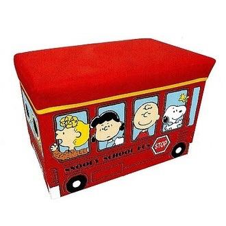 กล่องเก็บของนั่งได้ Snoopy สีแดง